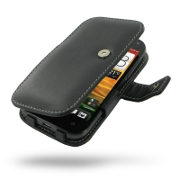 HTC One SV Leather Flip Cover PDair Premium Hadmade Genuine Leather Protective Case Sleeve Wallet
