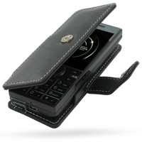 Leather Book Case for HTC S743/HTC S740 (Black)