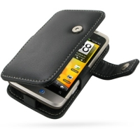 Leather Book Case for HTC Salsa C510e (Black)