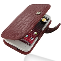 10% OFF + FREE SHIPPING, Buy Best PDair Top Quality Handmade Protective HTC Sensation XL Leather Flip Cover (Red Croc) online. Pouch Sleeve Holster Wallet You also can go to the customizer to create your own stylish leather case if looking for additional