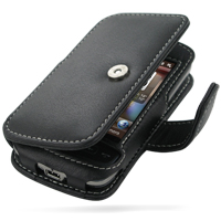Leather Book Case for HTC Touch 2 T3333 (Black)