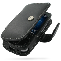 Leather Book Case for HTC Touch 3G (Black)