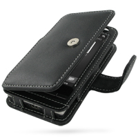 Leather Book Case for HTC Touch Diamond 2 (Black)