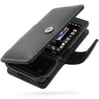 Leather Book Case for HTC Touch Diamond/HTC P3700 (Black)