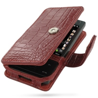 10% OFF + FREE SHIPPING, Buy Best PDair Top Quality Handmade Protective HTC Touch Diamond 100 Leather Flip Cover (Red Croc). Pouch Sleeve Holster Wallet You also can go to the customizer to create your own stylish leather case if looking for additional co