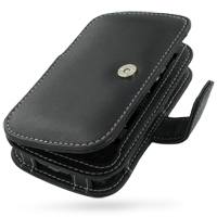 Leather Book Case for HTC Touch HD T8282 (Black) Ver. 2
