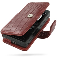 10% OFF + FREE SHIPPING, Buy Best PDair Top Quality Handmade Protective HTC Touch Pro Leather Flip Cover (Red Croc) online. Pouch Sleeve Holster Wallet You also can go to the customizer to create your own stylish leather case if looking for additional col
