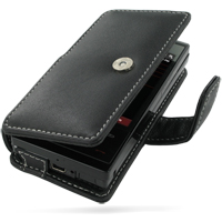 Leather Book Case for HTC Touch Pro XV6850 (Black)