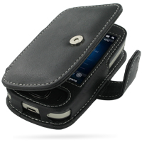 HTC Touch Viva Leather Flip Cover (Black) PDair Premium Hadmade Genuine Leather Protective Case Sleeve Wallet