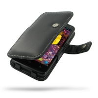 Huawei Ascend D1 XL Leather Flip Cover PDair Premium Hadmade Genuine Leather Protective Case Sleeve Wallet