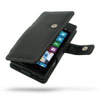 Huawei Ascend D2 Leather Flip Cover PDair Premium Hadmade Genuine Leather Protective Case Sleeve Wallet