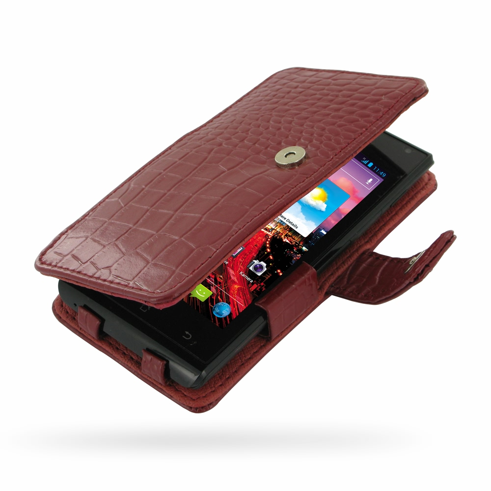 Book Cover Black Xl ~ Huawei ascend p xl leather flip cover red croc pattern