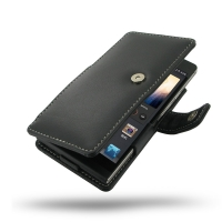Huawei Ascend P6 Leather Flip Cover PDair Premium Hadmade Genuine Leather Protective Case Sleeve Wallet