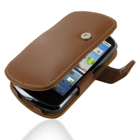 Leather Book Case for Huawei IDEOS X5 U8800 (Brown)