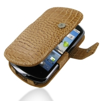 Leather Book Case for Huawei IDEOS X5 U8800 (Brown Crocodile Pattern)