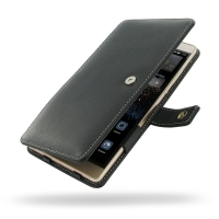 Huawei P8 max Leather Flip Cover PDair Premium Hadmade Genuine Leather Protective Case Sleeve Wallet