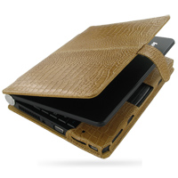 10% OFF + FREE SHIPPING, Buy PDair Top Quality Handmade Protective Lenovo Ideapad Lite S9 S10 Leather Flip Cover (Brown Croc). Pouch Sleeve Holster Wallet You also can go to the customizer to create your own stylish leather case if looking for additional