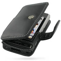 Leather Book Case for LG Dare VX9700 (Black)