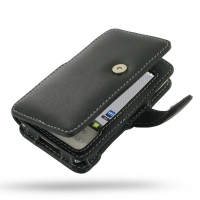 Leather Book Case for LG GT540 (Black)