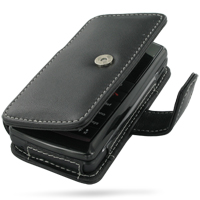 LG KT610 Leather Flip Cover (Black) PDair Premium Hadmade Genuine Leather Protective Case Sleeve Wallet