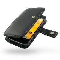 Nexus 4 Leather Flip Cover PDair Premium Hadmade Genuine Leather Protective Case Sleeve Wallet