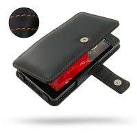 LG Optimus G Leather Flip Cover (Orange Stitch) PDair Premium Hadmade Genuine Leather Protective Case Sleeve Wallet