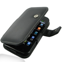 LG Optimus SOL Leather Flip Cover PDair Premium Hadmade Genuine Leather Protective Case Sleeve Wallet