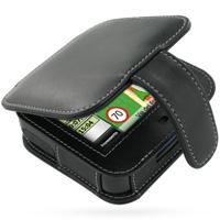 Leather Book Case for Mitac Mio C230 C238 (Black)