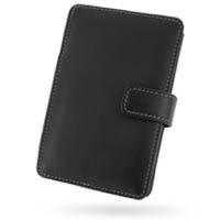 Leather Book Case for Mitac Mio C720t C520 C323 (Black)