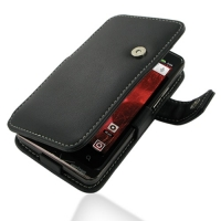 Motorola Droid Bionic Leather Flip Cover (Black) PDair Premium Hadmade Genuine Leather Protective Case Sleeve Wallet