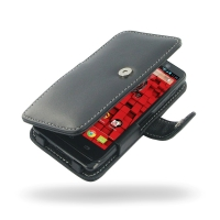 Motorola Droid Mini Leather Flip Cover PDair Premium Hadmade Genuine Leather Protective Case Sleeve Wallet