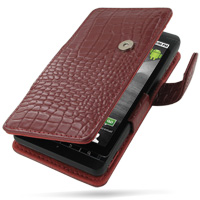 10% OFF + FREE SHIPPING, Buy PDair Top Quality Handmade Protective Motorola DROID X / Milestone X Leather Flip Cover (Red Croc). Pouch Sleeve Holster Wallet You also can go to the customizer to create your own stylish leather case if looking for additiona