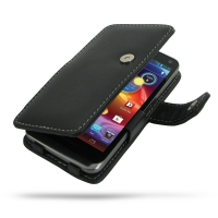 Motorola Electrify M Leather Flip Cover PDair Premium Hadmade Genuine Leather Protective Case Sleeve Wallet