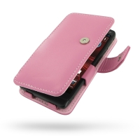 Leather Book Case for Motorola Razr i XT890 (Petal Pink)