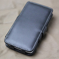 NEC Medias X Leather Flip Cover (Black) PDair Premium Hadmade Genuine Leather Protective Case Sleeve Wallet