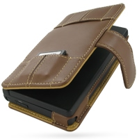 Leather Book Case for Nintendo Dsi (Brown)