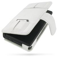 Leather Book Case for Nintendo Dsi (White)