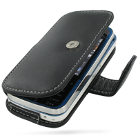 Nokia 5730 XpressMusic Leather Flip Cover (Black) PDair Premium Hadmade Genuine Leather Protective Case Sleeve Wallet