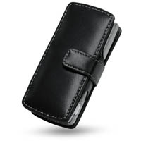 Nokia 6708 Leather Flip Cover (Black) PDair Premium Hadmade Genuine Leather Protective Case Sleeve Wallet