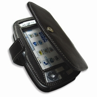 Nokia 7710 Leather Flip Cover (Black) PDair Premium Hadmade Genuine Leather Protective Case Sleeve Wallet