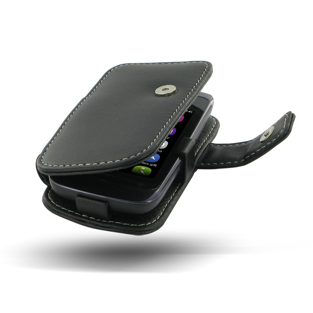 detailed look 552d1 0c223 Leather Book Case for Nokia Asha 308 309