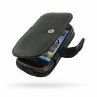 Leather Book Case for Nokia C7 (Black)