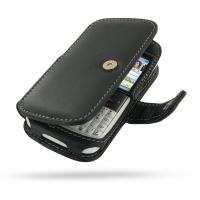 Nokia E5 Leather Flip Cover (Black) PDair Premium Hadmade Genuine Leather Protective Case Sleeve Wallet