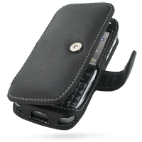 Nokia E72 Leather Flip Cover (Black) PDair Premium Hadmade Genuine Leather Protective Case Sleeve Wallet