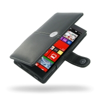 Nokia Lumia 1520 Leather Flip Cover PDair Premium Hadmade Genuine Leather Protective Case Sleeve Wallet