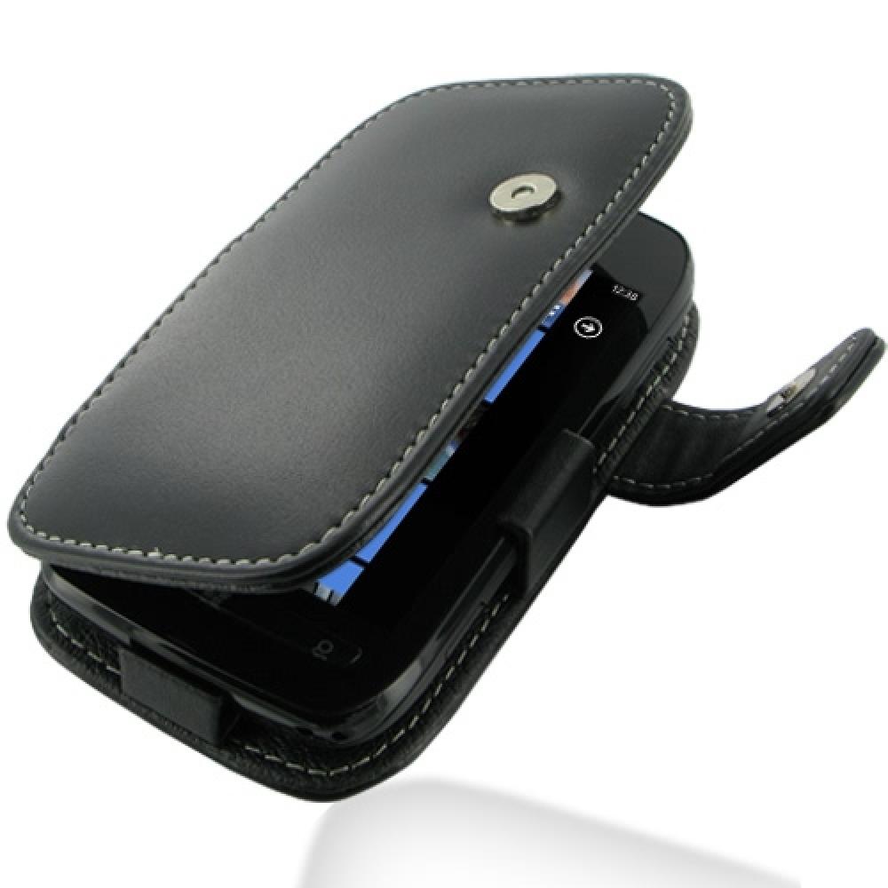 best service 584b6 e4312 Leather Book Case for Nokia Lumia 710 (Black)