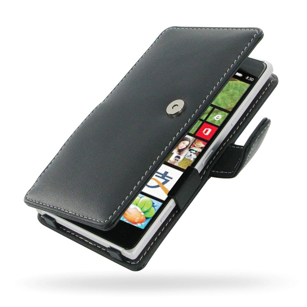 more photos fd006 8f975 Leather Book Case for Nokia Lumia 830