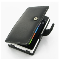 Nokia Lumia 900 Leather Flip Cover PDair Premium Hadmade Genuine Leather Protective Case Sleeve Wallet