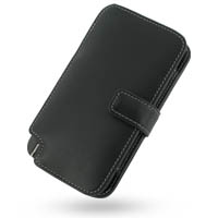 Leather Book Case for Nokia N800 Internet Tablet (Black)