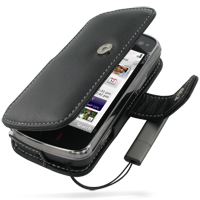 Leather Book Case for Nokia N97 (Black)